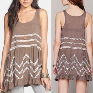 Pretty Free People Voile and Lace trapeze dress👗!